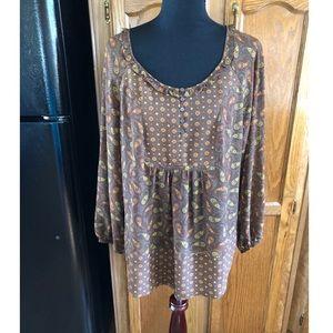 Lane Bryant Mixed Pattern Top Size 14/16W